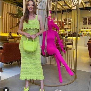 NWT ZARA Long Knit Lime Dress S Blogger'sFav